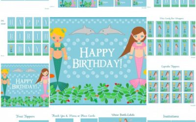 Free Mermaid Party Printables + Extras!