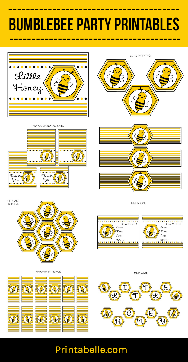 BumbleBee Party Printable Set