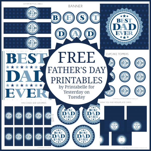 """""""Best Dad"""" Free Father's Day Printables"""