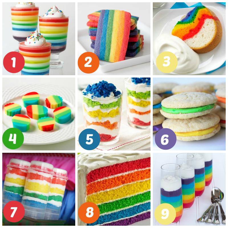 Gorgeous Rainbow Treats