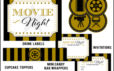 Hollywood Movie Night Printable Set