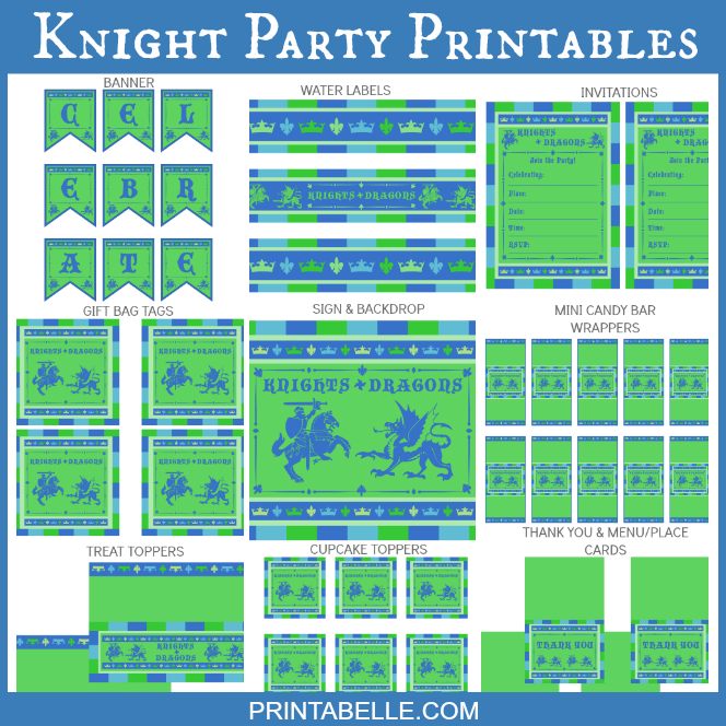 Knight Party Printables