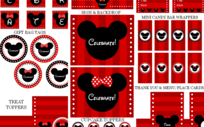 Mickey and Minnie Mouse Party Printables
