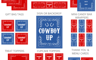 Cowboy Birthday Party Printables