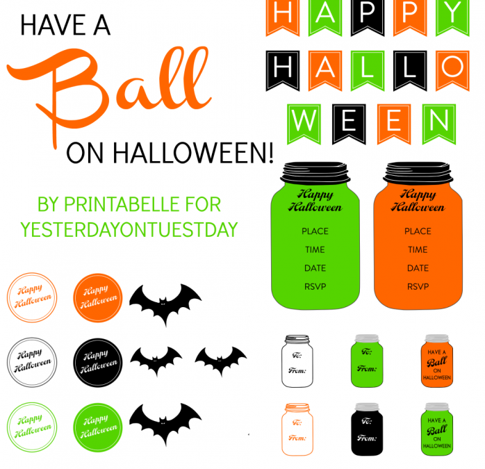 Halloween Mason Jar Printables