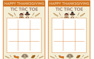 Free Printable Thanksgiving Tic Tac Toe Game