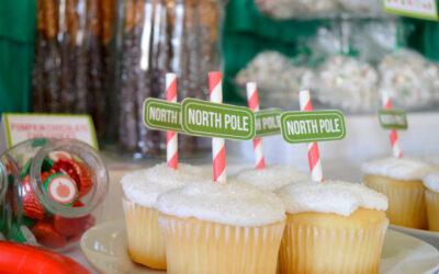 Christmas party and Free North Pole cupcake printables