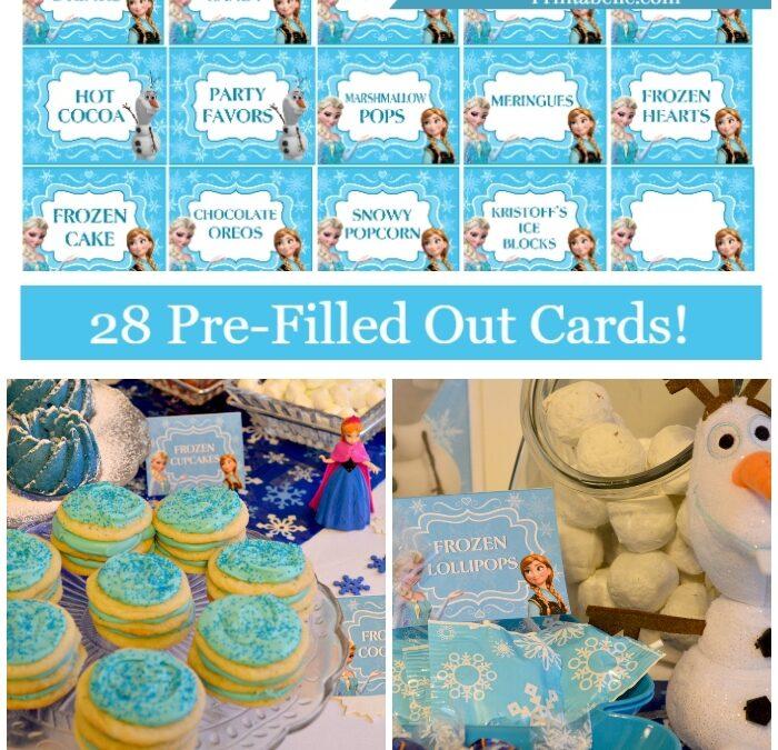 Frozen Prefilled Party Food Cards & Bonus Signs!