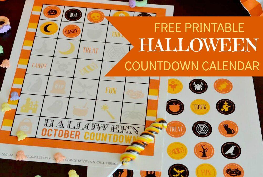 Halloween Countdown Calendar Free Printable