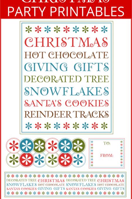 Christmas Subway Party Printables