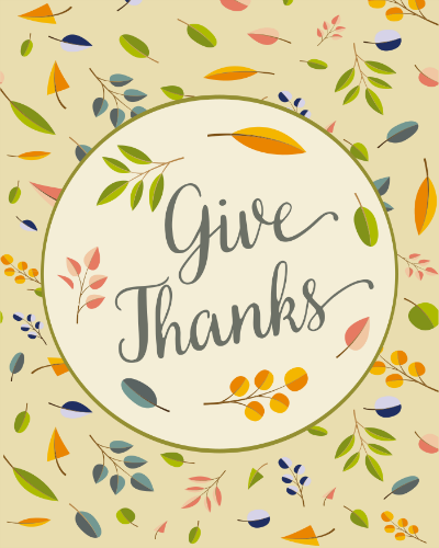 "Free Thanksgiving ""Give Thanks"" Printable"
