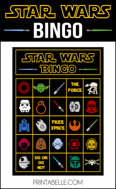 Star Wars Printable Bingo Game