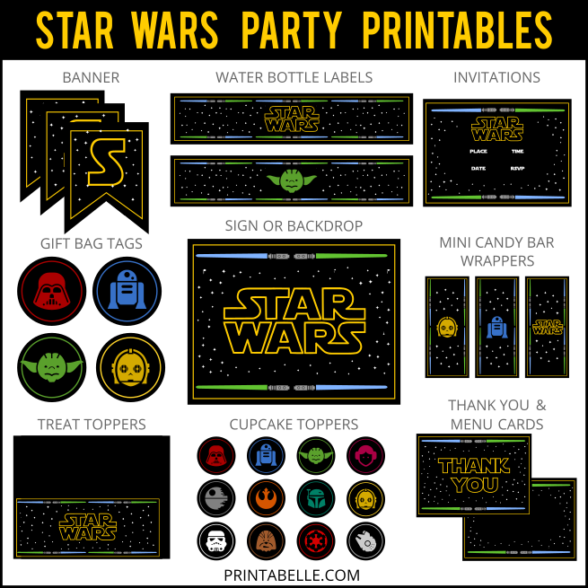 Star Wars Inspired Party Printables