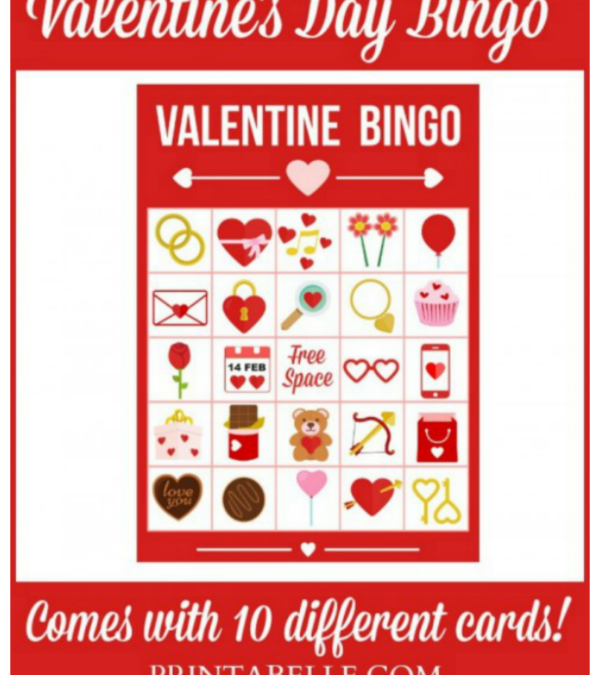 Printable Valentine's Day Bingo Game