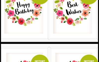 Watercolor Floral Party Signs