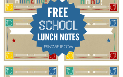 Free Printable Lunch Notes for Back to School