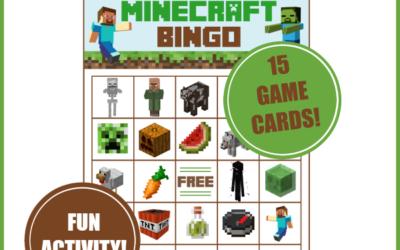Minecraft Bingo Game – Printable Deluxe Pack