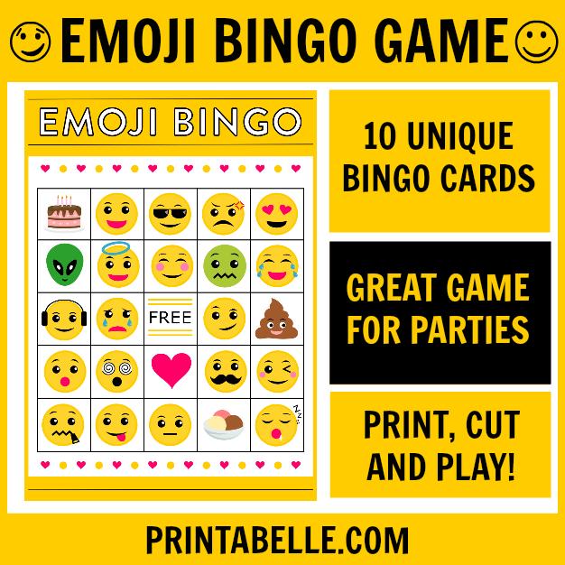 Emoji Bingo Printable Game