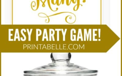 Easy Guessing Party Game Printable!