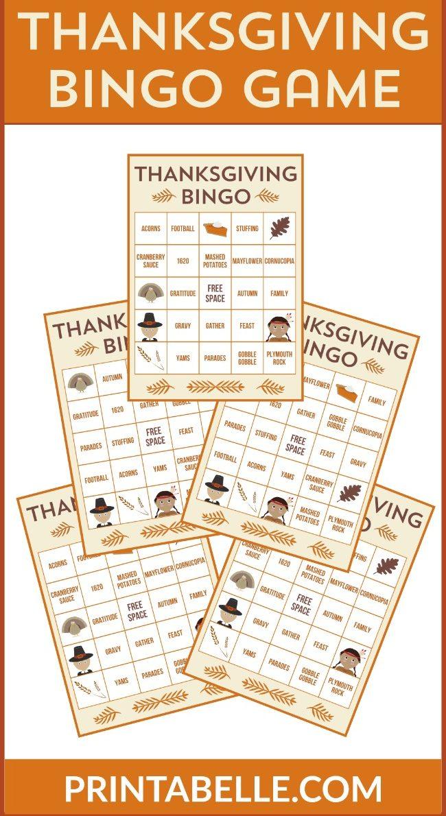 Thanksgiving Printable Bingo Game