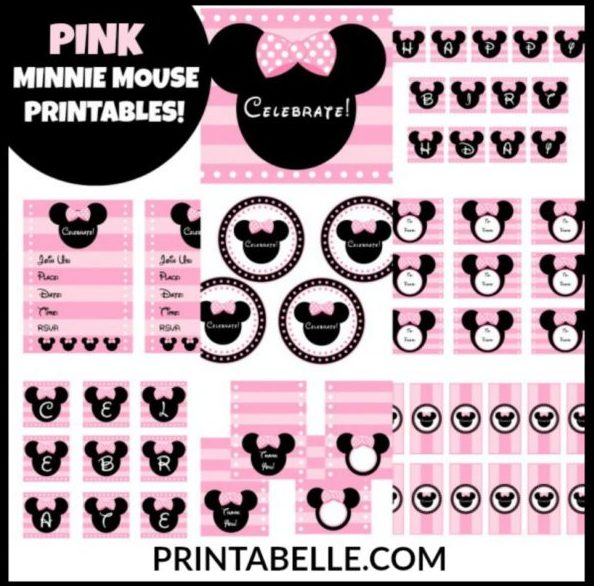 Pink Minnie Mouse Printables