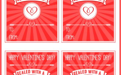 Free Printable Kiss Valentines