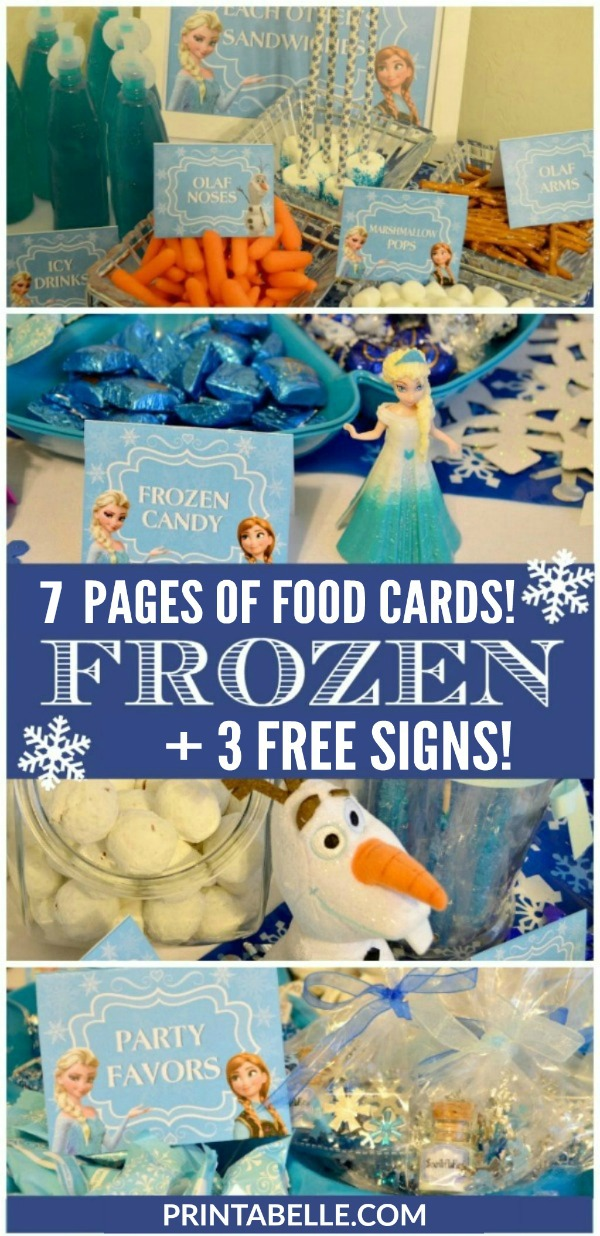Frozen Party Food Cards