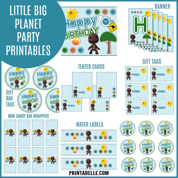 Little Big Planet Party Printables