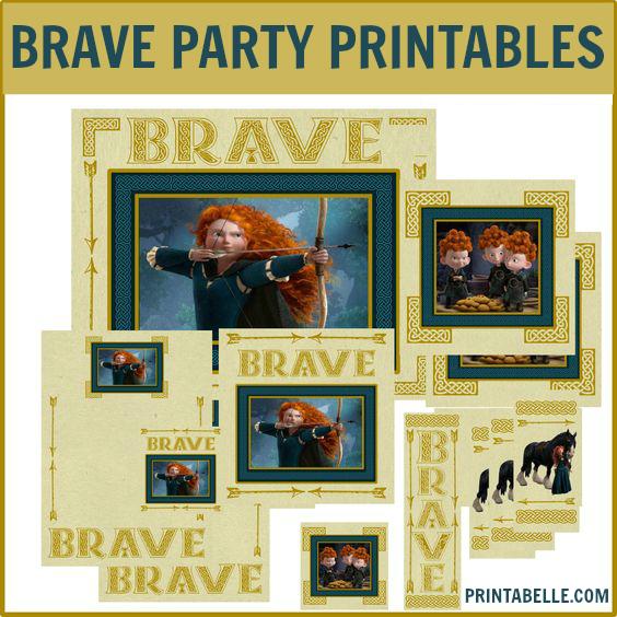 BRAVE Birthday Party Printables