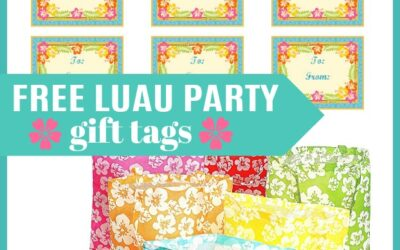 Free Luau Party Printable Gift Tags