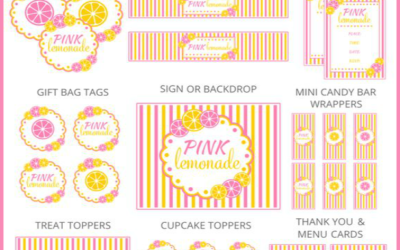 Pink Lemonade Party Printables