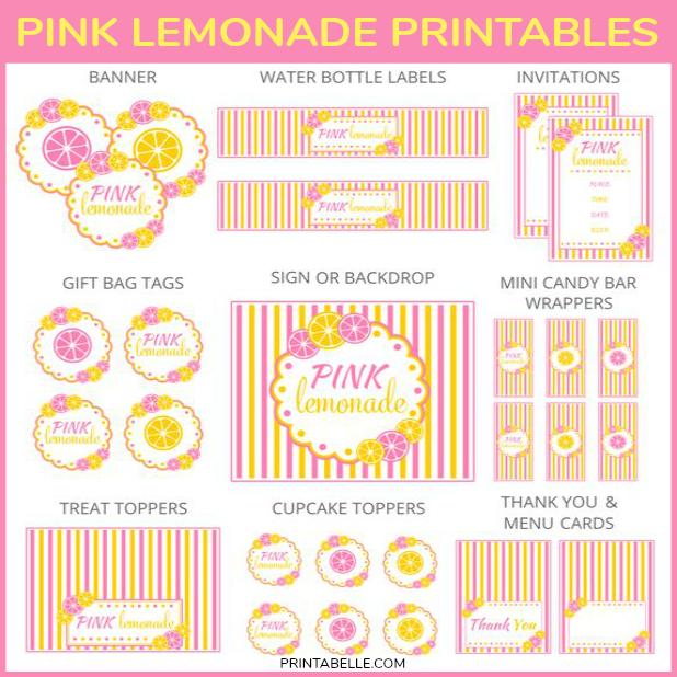 Pink Lemonade Party Printables