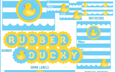 Rubber Ducky Party Printables