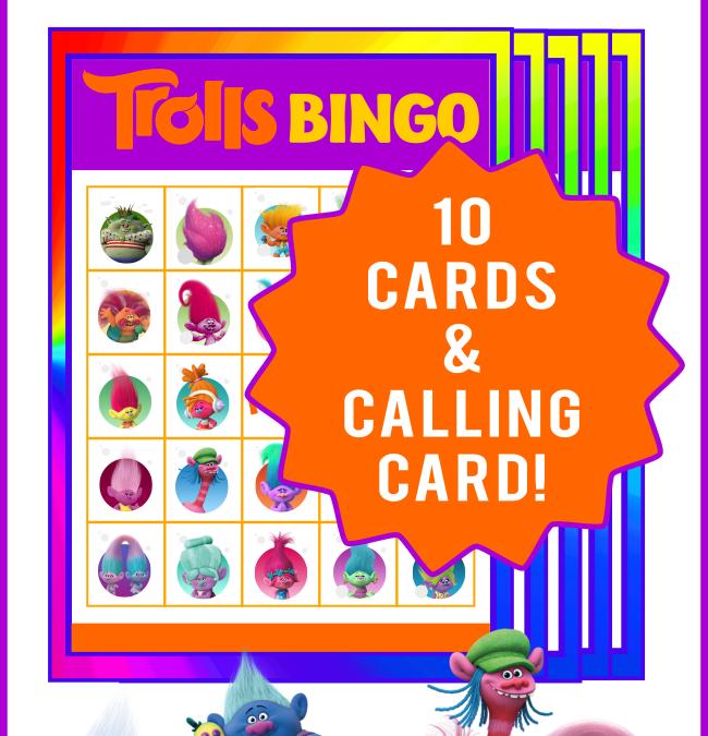Trolls Bingo Game
