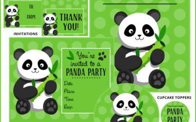 Panda Party Printables