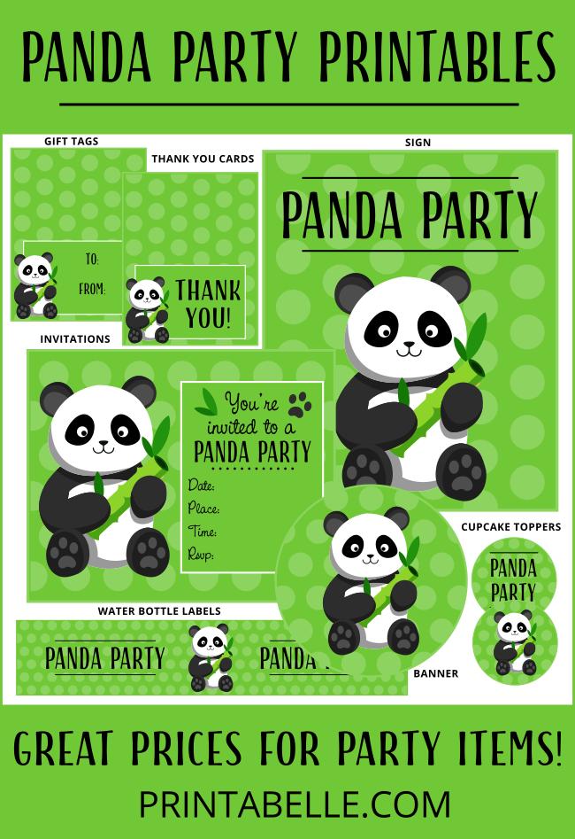 Panda Party Printables Printabelle