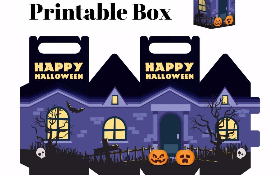 Free Haunted Halloween House Printable Box