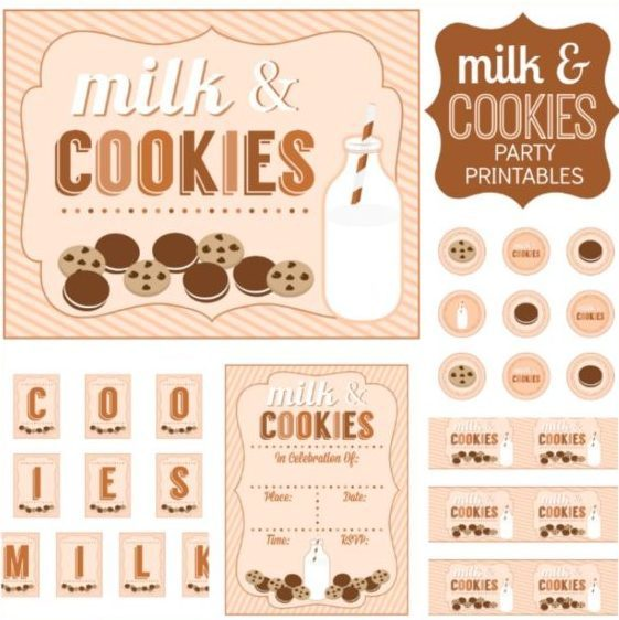 Cookies and Milk Party Printable Items