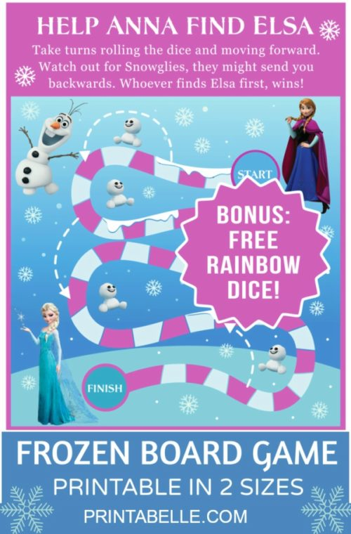Frozen Board Game (with free dice)