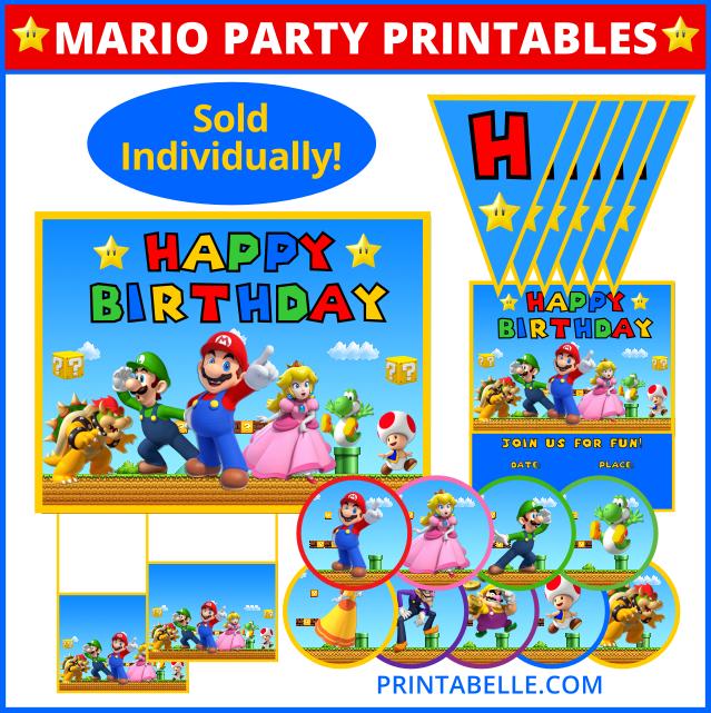 Mario Party Printables (Sold Individually!)