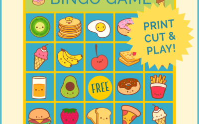 Cute Food Bingo Game Printable