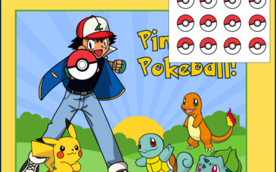 Pin the Pokeball Printable Game
