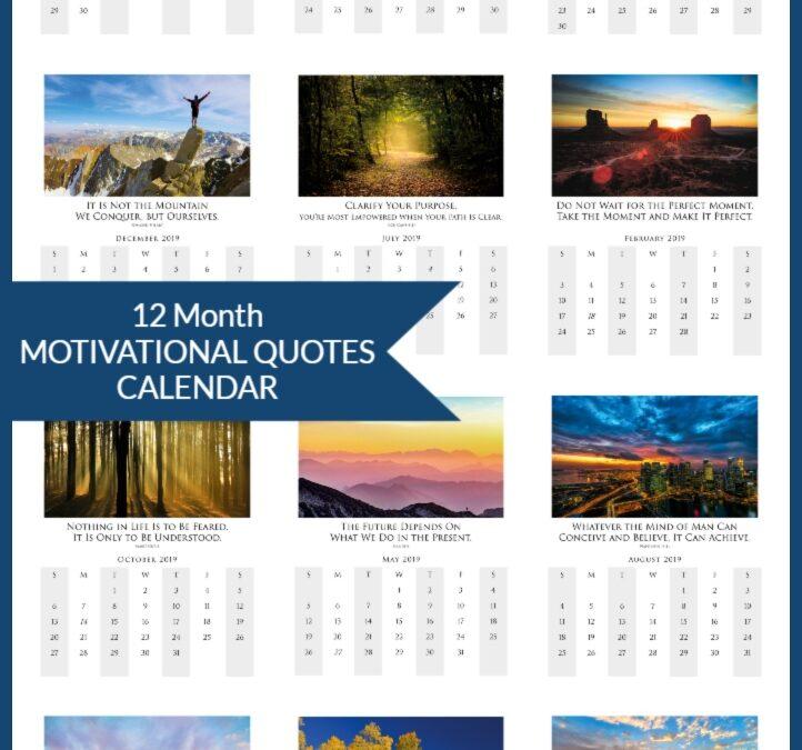 2019 Photo Quote Calendar Printable