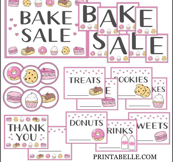 Bake Sale Favorites and Printables!