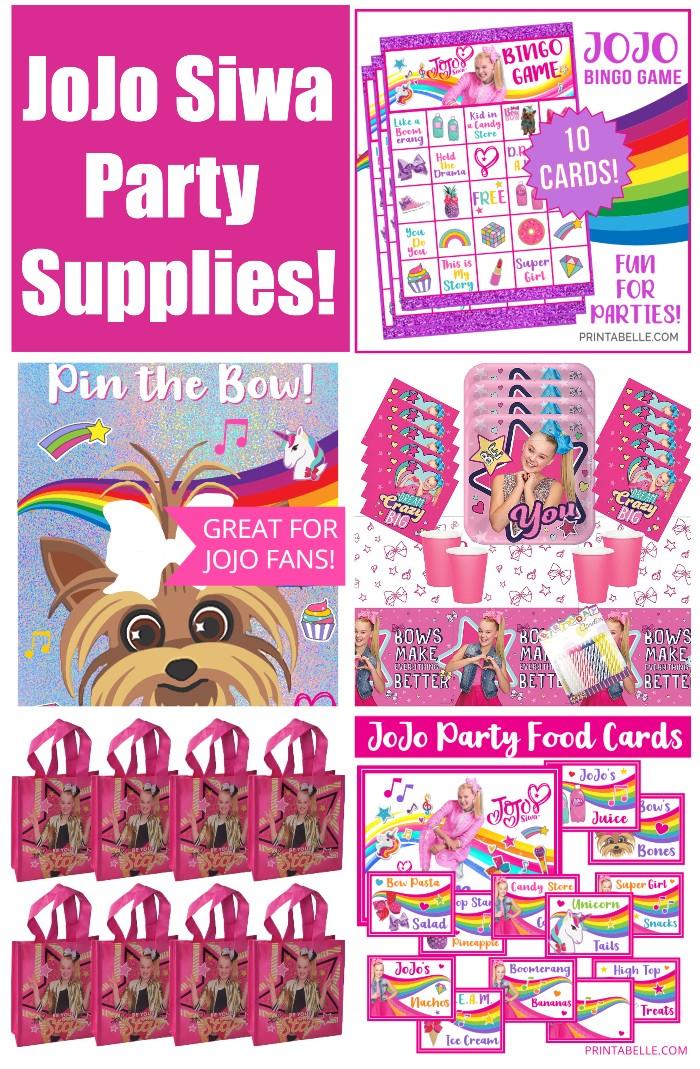 JoJo Siwa Party Supplies for Birthday Parties