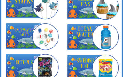 Baby Shark Under the Sea Printable Party Food Cards