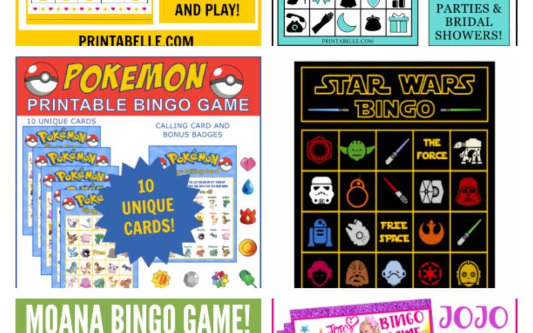 Bingo Games Printable for Birthdays, Bridal and Baby Showers!