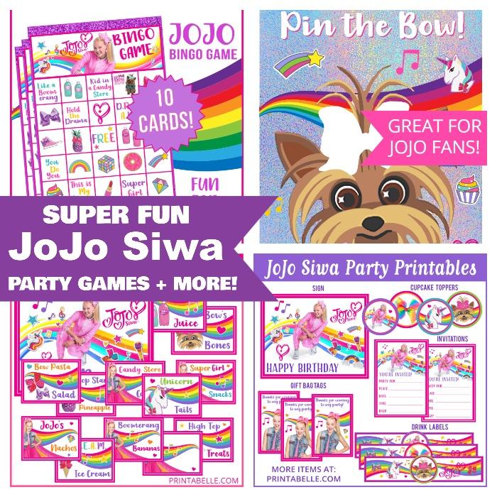 JoJo Siwa Party Games and Printables!