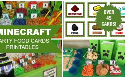 MINECRAFT PRINTABLE PARTY FOOD CARDS (PDF)