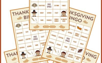 Thanksgiving Bingo Game and Tic Tac Toe Games